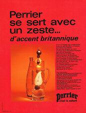 PUBLICITE ADVERTISING  1972   PERRIER  eau minérale