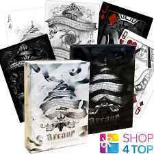 2 DECKS BICYCLE ELLUSIONIST 1 ARCANE BLACK AND 1 ARCANE WHITE PLAYING CARDS NEW