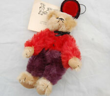 Miniature Teddy Bear Bellhop Tinted Mohair Artist Linda Suzanne Shum Jointed LTD