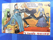 FS Fred Stone Comic Postcard 1909 MOTHER IN LAW Theme