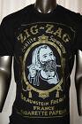 ZIG ZAG T-SHIRT men black M/L/XL/2X zigzag Smoking Rasta sig-sag 420 Gift idea