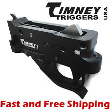 Timeny Ruger 10/22 Drop In Competiton Trigger Group - Black Housing & Black Shoe