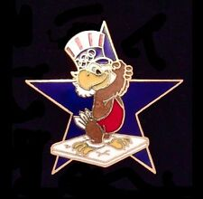Wrestling Olympic Pin Badge~LA~1984 ~ Mascot: Sam the Eagle ~Star ~ Los Angeles