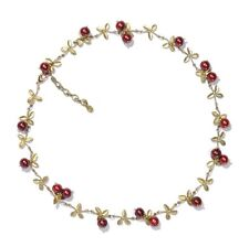 Cranberry Necklace by Michael Michaud for Silver Seasons #7785BZCR