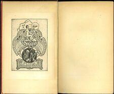 Art Nouveau Jugendstil Ex Libris Skeleton Bookplate Book Plate Paul Hofer Affixd