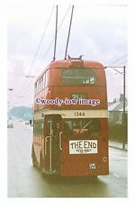 gw0546 - Manchester Trolleybus no 1344 The End in 1966 - photograph