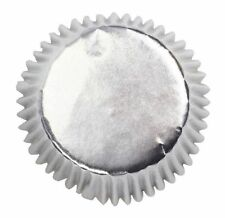 45 Cupcake Cup cake Cases ~ Baking Cups ~ Silver Foil FAST SHIPPING
