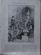 Original 1904 Print PLAYING at SHOEMAKING CH FINNEMORE B/W Book Illustration