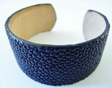 Stingray Bracelet, Blue Stingray Cuff Bangle, Blue Stingray Wide Cuff Bracelet
