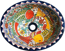 26 (M) Mexican Ceramic Talavera sinks Painted Both sides