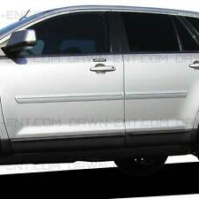 For: FORD EDGE; Painted Body Side Moldings Mouldings W/Chrome Insert 2007-2014