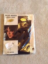Vintage 1970s Bear Brand Brown Textured Velvet Look Stockings Size Small
