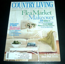 COUNTRY LIVING MAGAZINE~FEBRUARY 2000~FLEA MARKET MAKEOVER~COLLECTABLES~RECIPES+