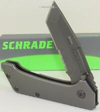 Schrade Old Timer Heavy Duty Tactical Carbon Steel Tanto Serrated Pocket Knife