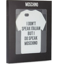 100% AUTHENTIC SS15 Moschino I Do Speak Moschino T-shirt iPhone Case 5 5S 5C NIB