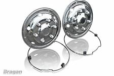 """17.5"""" Universal Front Bus Coach Mercedes DAF Iveco Truck S/S Wheel Trims"""
