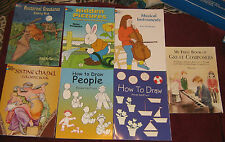 DOVER BOOKS - SET OF 7 - COLORING, ACTIVITY, PIANO BOOK
