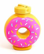 NEW Universal Studios Simpsons Lard Lad Donuts Pink Souvenir Sipper Drink Cup
