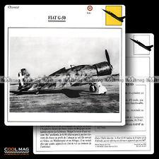 #081.07 FIAT G 50 - Fiche Avion Airplane Card
