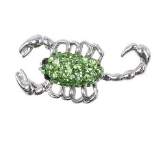 Beauty Rhinestone Green Scorpion Charm Chunk Snap Button for Noosa Bracelets