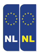2 x Dutch/Netherlands Euro Car Number Plate vinyl stickers