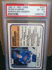 1981 O-PEE-CHEE # 287 Peter Stansy  PSA EX/MT 6 ....PSA NEW CASE......H-7041