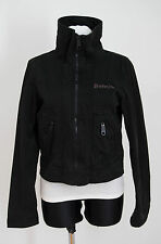 WOMENS BENCH THIN ZIP JACKET COTTON BLACK SIZE M MEDIUM VGC
