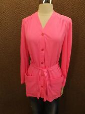 New NOS Vtg 60s-70s Catalina Hot Pink Nylon Swim Suit Cover Up M Beach Boat Pool