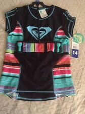 NWT Roxy Girls Rash Guard Swim Shirt UPF 50 Size 14 Free Shipping