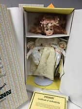 Seymour Mann Connoisseur Porcelain Doll with twins Bless the children angel