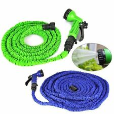 Expandable Flexible Magic Hose 50 Feet Water Pipe Spray Nozzle TV Deluxe Garden