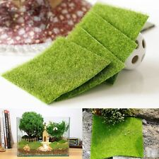 15cmx15cm Artificial Turf Grass Lawn Grass Plants For Miniature Landscape Decor