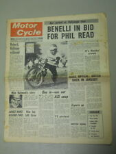 Motor Cycle Newspaper, Oct 23, 1968, Benelli in bid for Phil Read.   MCNP 68