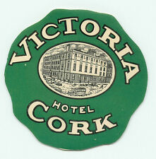 IRELAND VICTORIA HOTEL CORK VINTAGE LUGGAGE LABEL
