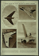 De Havilland DH108 Swallow First Tailless Jet Aircraft 1946 1 Page Photo Article