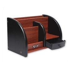 Noble wooden desktop storage box office stationary holder Organiser desk drawer