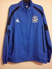 EVERTON FOOTBALL CLUB BLUE TRACK TOP JACKET XL LE COQ SPORTIF EFC CHANG SODA VGC