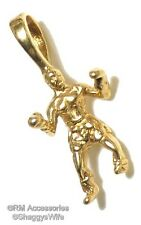 Boxer Charm Boxing Man Pendant EP Gold Plated Jewelry with a Lifetime Guaranteed