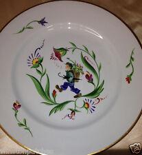 "ARABIA SUOMI FINLANDIA FINLAND 10"" DINNER PLATE MAN HANDPAINTED BLUE BACKGROUND"