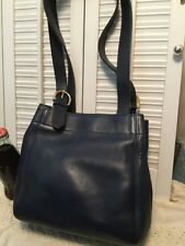 COACH Authentic Waverly Soho Blue Leather Bucket Shoulder Handbag USA Vintage