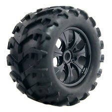 T810001 Rubber Black Tires with Wheel Sets 150mm 4P Fit RC HSP 1:8 Bigfoot Truck