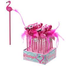 Flamingo crayon & effaceur kids fille école cadeau sac fête stocking filler