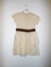 Vintage 1970s Lace Dress by Little Star For Girls Sz 10