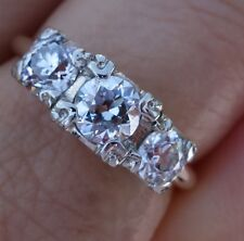 1.30ct Transitional G-H/Si1 past present future vintage antique diamond ring