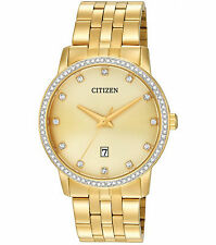 New Citizen Men's Dress Crystal Gold Tone Stainless Steel Watch BI5032-56P