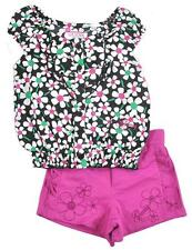 Guess Infant Girls Floral Top 2pc Short Set Size 12M $58