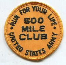 Vietnam Era US ARMY RUN YOUR LIFE MILITARY FITNESS PATCH 500 Mile Club