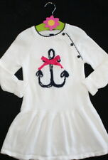 Baby Gap Ivory Nautical Anchor Long Sleeve Sweater Dress Girl Size 4