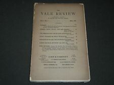 1892 MAY THE YALE REVIEW QUARTERLY JOURNAL VOLUME 1 NO. 1 - II 3009