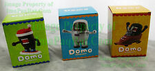 3 Domo-Kun Holiday Ornaments w/ Boxes Snowboarding Astronaut DOMO Friend Bobsled